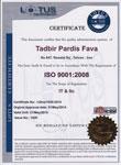 استاندارد ایزو 9001:2008 تدبیر وب